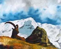 Quadro di Paolo Lenti  Il padrone delle nevi