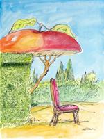 Quadro di Franco Lastraioli  All'ombra della mela