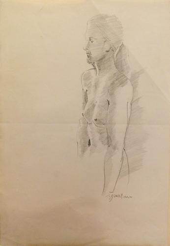Quadro di Luigi Pignataro Nudo - matita carta