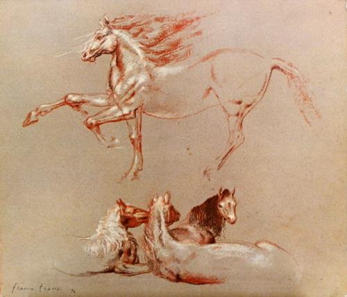 Quadro di Franco Trevisi Cavalli - stampa cartone