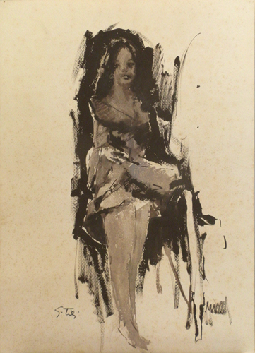Quadro di Gino Tili Lucciola - acquerello carta
