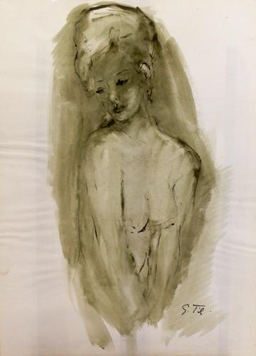 Quadro di Gino Tili Nudo - mista carta