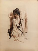 Quadro di Gino Tili  Modella
