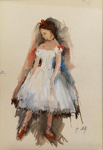 Quadro di Gino Tili Ballerina - mista carta