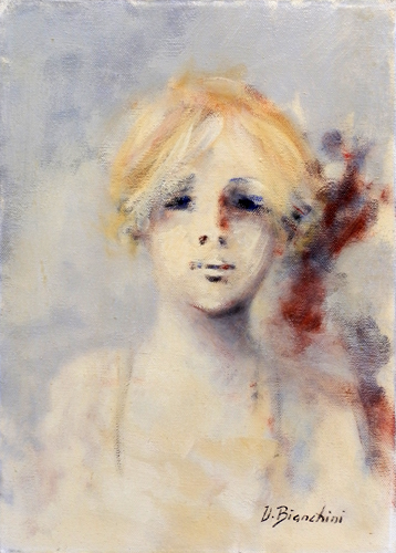 Quadro di Umberto Bianchini Testina - Pittori contemporanei galleria Firenze Art