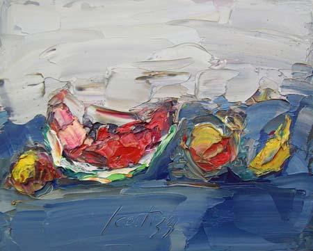 Quadro di Sergio Scatizzi Composizione - olio tavola