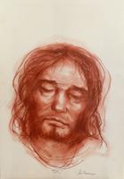 Quadro di Salvo Benincasa - Cristo sanguigna carta