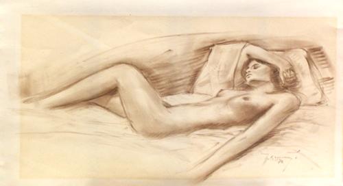 Quadro di A. Brunetti Nudo - matita carta