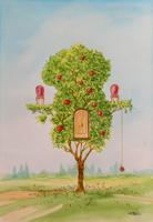 Quadro di Franco Lastraioli  Albero delle mele