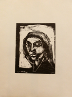 Quadro di Gino Terreni - Figura litografia carta
