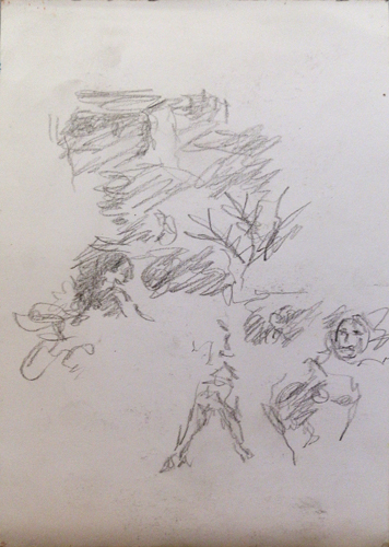 Quadro di Guido Borgianni Bloc (di disegni) - matita carta