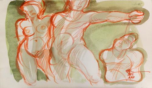 Quadro di Claude Falbriard Burattinaio - mista carta
