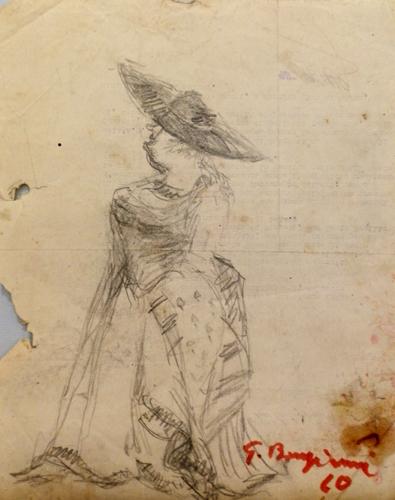 Quadro di Guido Borgianni Figura - matita carta