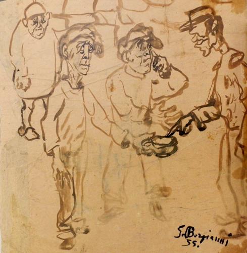 Artwork by Guido Borgianni, china on paper | Italian Painters FirenzeArt gallery italian painters