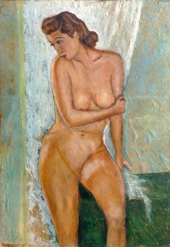 Quadro di Augusto Zoboli Nudo - olio cartone