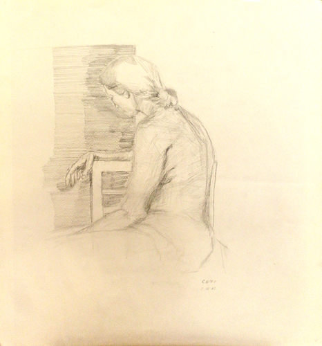 Art work by  Cefi Posa di donna - lapis paper