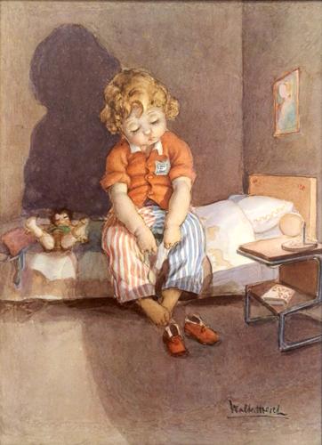 Quadro di Walter Hersch Bambino - stampa -