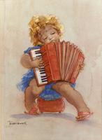 Work of Walter Hersch - La fisarmonica print -