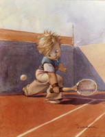 Work of Walter Hersch - Giocatore di tennis print -