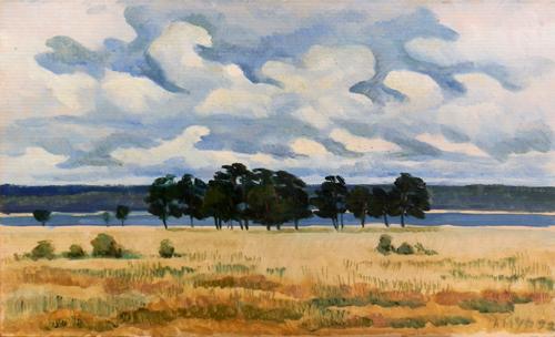 Quadro di A. Muraviov Paesaggio - olio cartone