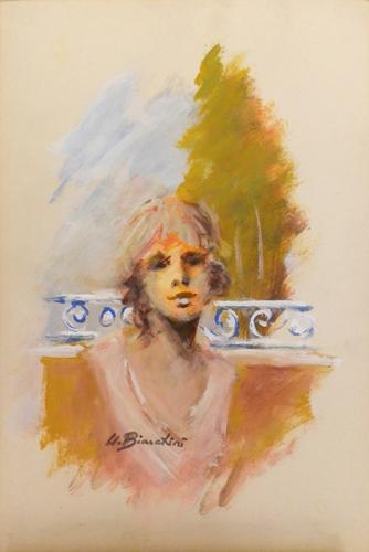 Quadro di Umberto Bianchini Giulia - tempera cartone