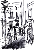 Quadro di Vanessa Katrin  Strada cittadina