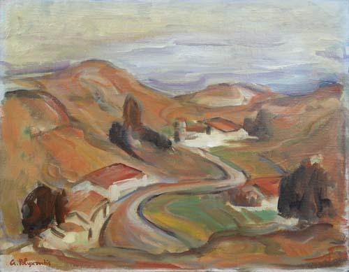 Quadro di Giorgio Polykratis Paesaggio - Pittori contemporanei galleria Firenze Art