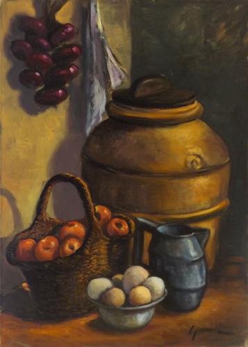 Quadro di firma Illeggibile Composizione - Pittori contemporanei galleria Firenze Art