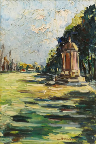 Art work by Enrico Bandelli Le Cascine - oil canvas
