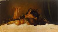 Quadro di A. Morales  - Natura morta olio tela