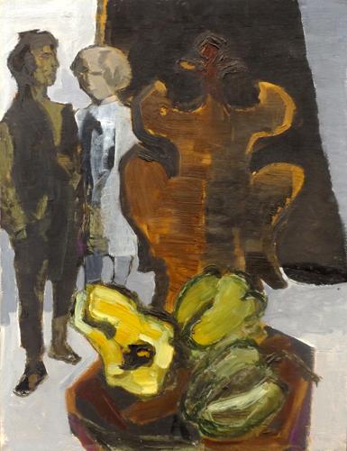Quadro di Renzo Grazzini Composizione con figure - olio tavola