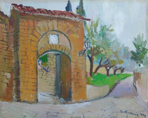 Quadro di Rodolfo Marma Porta S. Giorgio - olio tela