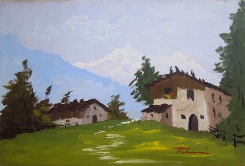 Quadro di Mario Tabeni Paesaggio - olio tavola