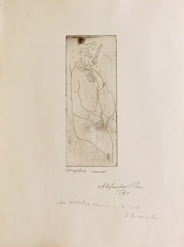 Art work by Alessandro Piras Figura - lithography paper