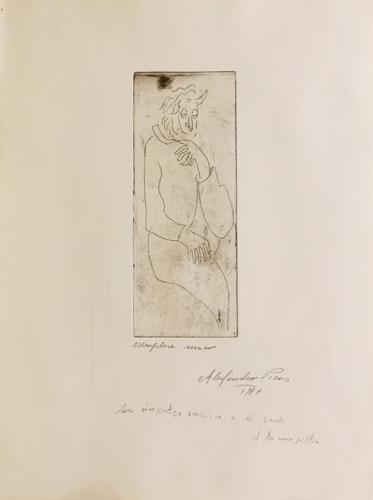 Quadro di Alessandro Piras Figura - litografia carta