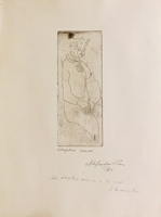 Quadro di Alessandro Piras - Figura litografia carta