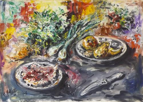 Art work by  Zimarelli (da Trieste) Composizione - oil canvas