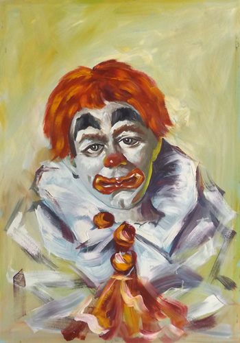 Art work by  Anonimo Clown - oil table