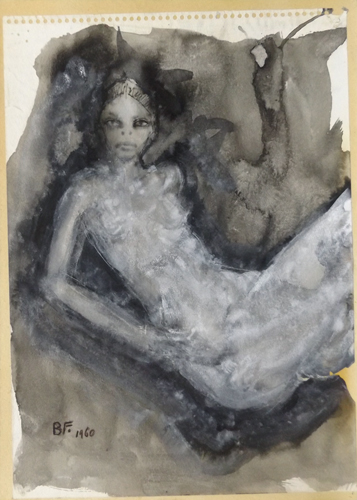 Art work by Beppe Fabbrini Figura - watercolor paper