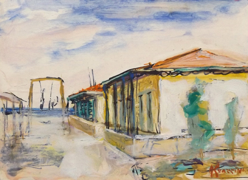 Art work by Renzo Grazzini Bagni di Tonfano - watercolor paper