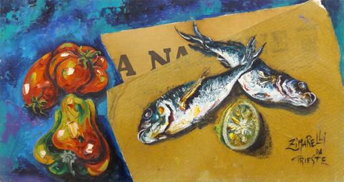 Quadro di  Zimarelli (da Trieste) Composizione - collage tavola