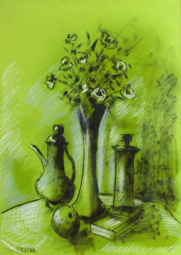 Quadro di Sereno Serena Composizione con fiori - mista carta