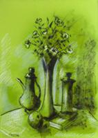 Quadro di Sereno Serena - Composizione con fiori mista carta