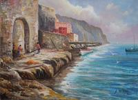 Quadro di Rossella Baldino - A riva  olio tela