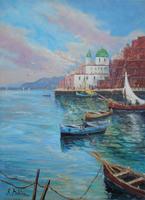 Quadro di Rossella Baldino - Vele e lampare olio tela