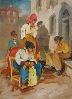 Work of Basso Ragni  Le filatrici