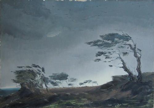 Art work by Natalino Mucci Scirocco - oil canvas