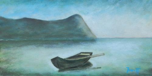 Quadro di Giancarlo Fioretti Barca  - olio cartone