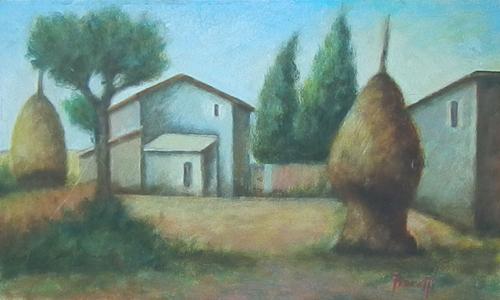 Quadro di Giancarlo Fioretti Paesaggio - olio cartone