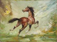 Quadro di Inigio Pagliani  Cavallo